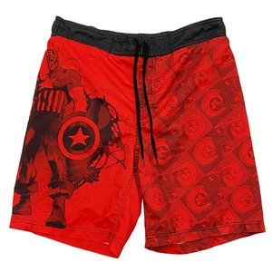 Captain America Red Board Shorts